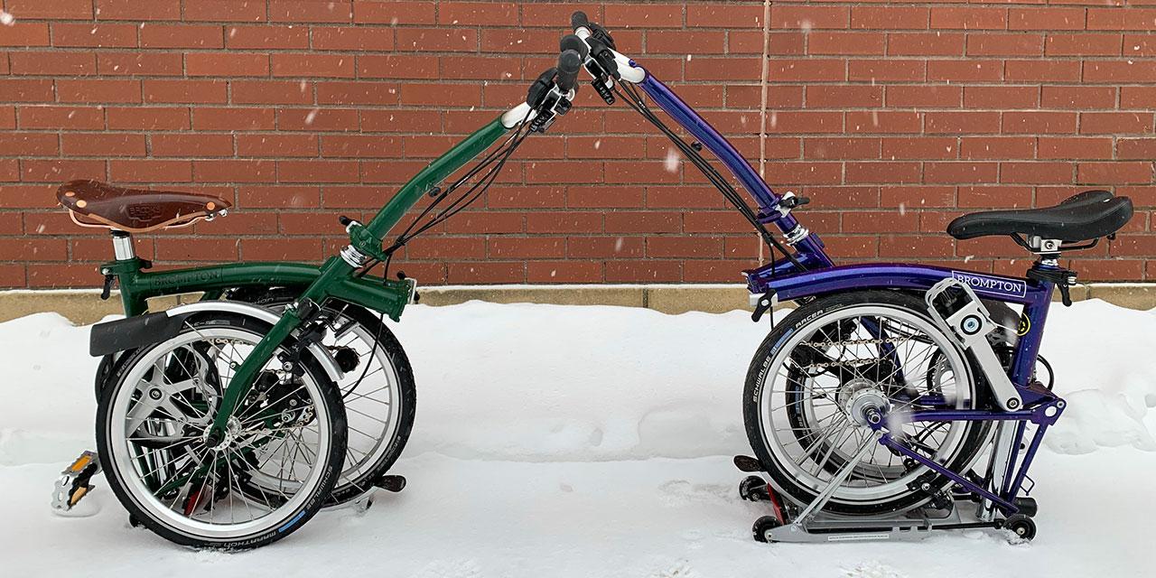 Les vélos pliables Brompton chez Dumoulin Bicyclettes