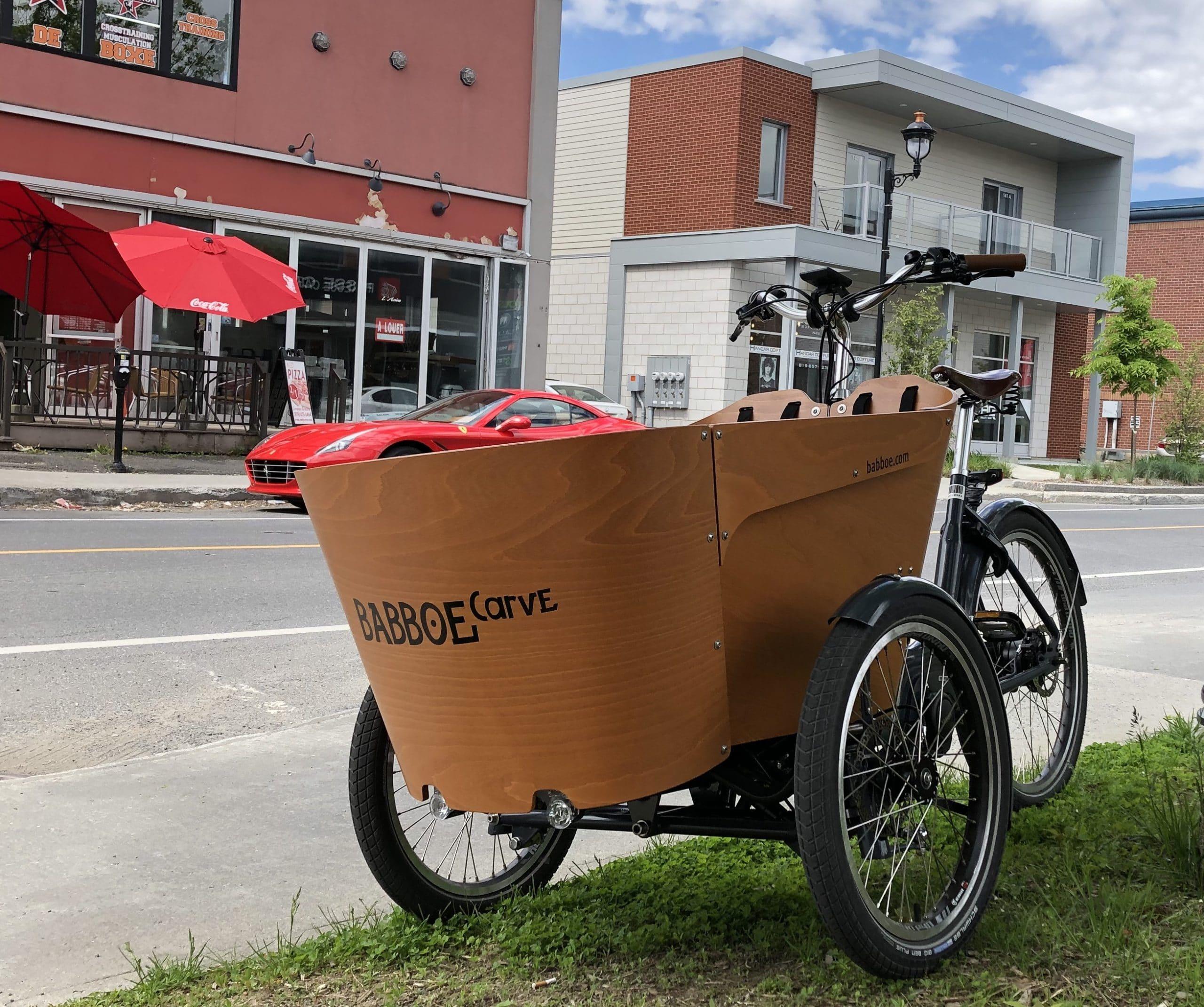Drummondville en vélo cargo : témoignage d'Alexandre